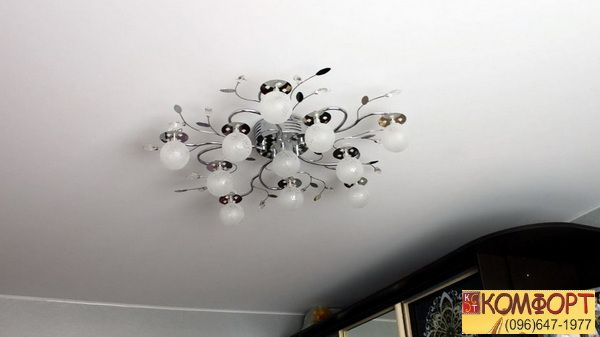 Натяжной ситцевый потолок