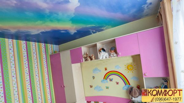 Натяжной двухуровневый потолок
