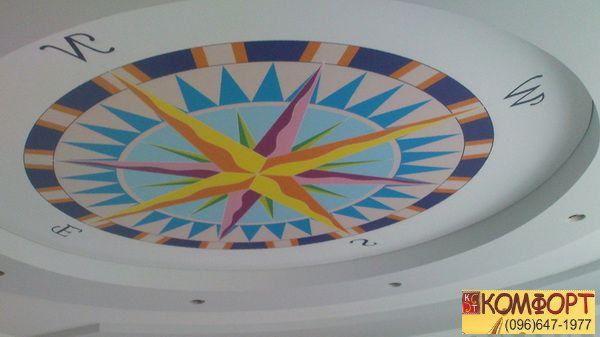 Натяжной потолок двойной